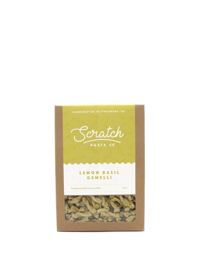 Scratch Pasta Lemon Basil Gemelli