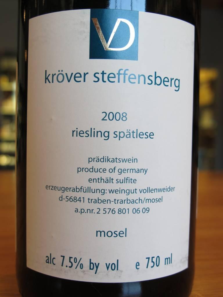 Weingut Vollenweider 2008 Weingut Vollenweider Kröver Steffensberg Riesling Spätlese 750ml