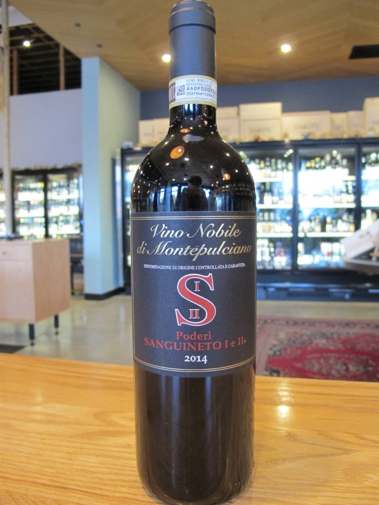 Poderi Sanguineto I e II 2014 Poderi Sanguineto I e II Vino Nobile di Montepulciano 750ml
