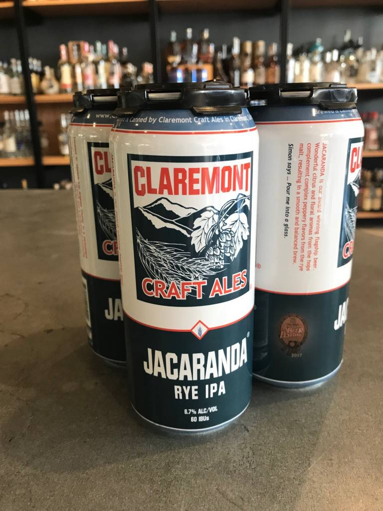 Claremont Craft Ales Claremont Craft Ales Jacaranda Rye IPA 16oz 4 Pack