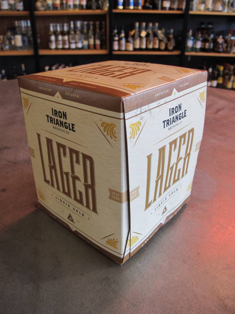 Iron Triangle Brewing Co. Iron Triangle Brewing Liquid Gold Lager 16oz 4 Pack