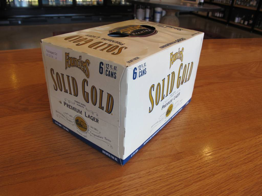 Founders Brewing Founders Solid Gold Lager 12oz 6pk