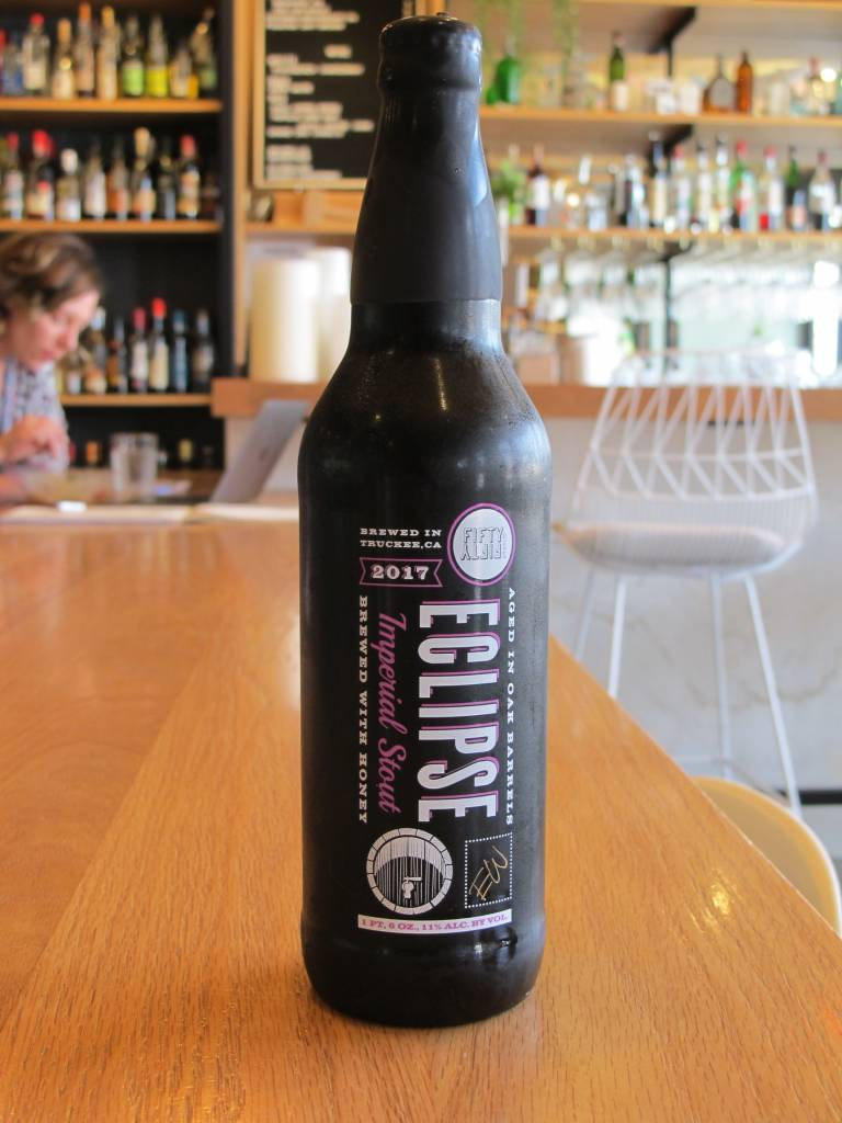 Fifty Fifty Brewing Co. Fifty Fifty Eclipse Evan Williams Barrel Black Wax 22oz