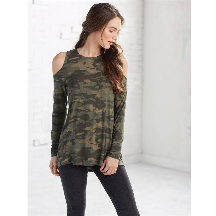 c6f77603ac3a16 Trish Long Sleeve Cold Shoulder Tee - King Frog Clothing   The ...