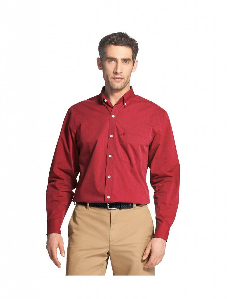 Essential Stretch Long-Sleeve Button-Down Shirt