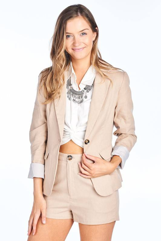 BD Collection Kennedy Linen Blazer