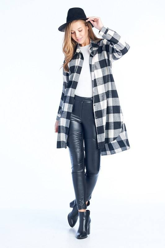 BD Collection Hazel Buffalo Plaid Duster