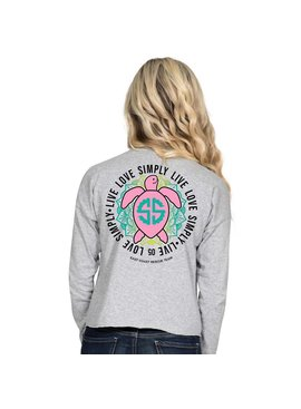 Simply Southern Collection Shortie Turtle Long Sleeve T-Shirt