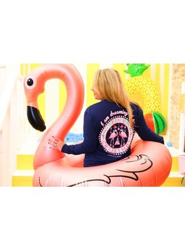 Jadelynn Brooke JLB I'm Dreaming Of A Pink Christmas L/S Navy