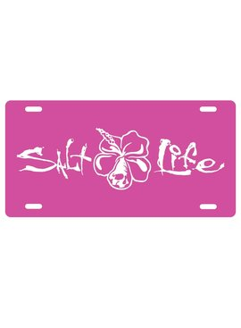 Salt Life Salt Life Signature Hibiscus License Plate