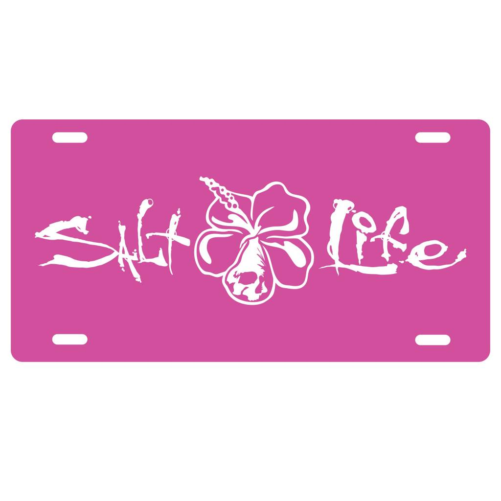 Salt Life Salt Life Signature Hibiscus License Plate