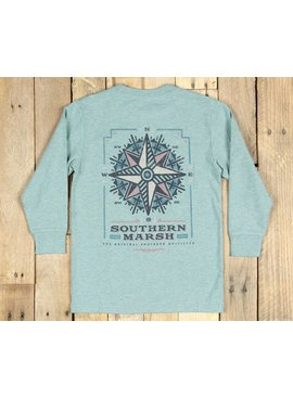 Southern Marsh Youth Branding Tee - Compass - Long Sleeve