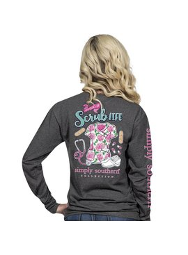 Simply Southern Collection Living The Scrub Life Long Sleeve T-Shirt