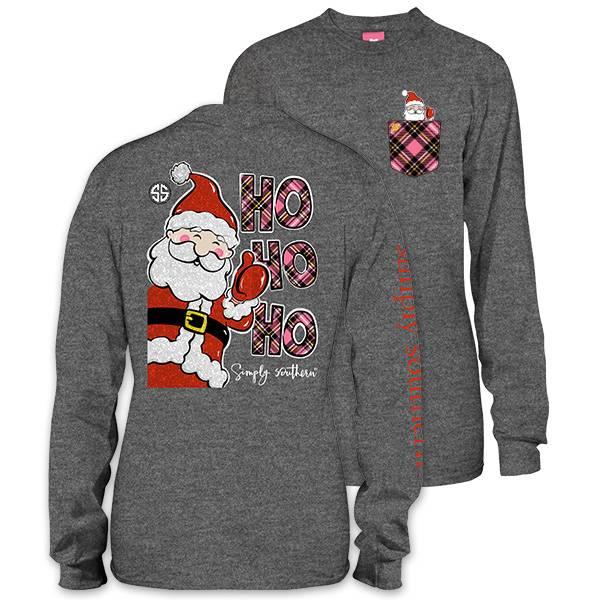 Simply Southern Collection HOHOHO Long Sleeve T-Shirt