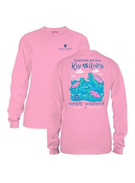 Simply Southern Collection Youth - Simply Strong Hurricane Long Sleeve T-Shirt