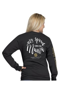 Simply Southern Collection My Squad Call Me Mama Long Sleeve T-Shirt