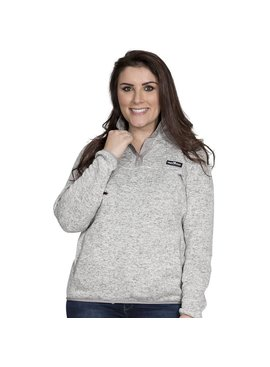 Simply Southern Collection Women's Knit  Pullover -Smoke