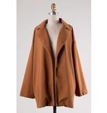 FAVLUX Fashion FAV LUX Fleece Woven Jacket