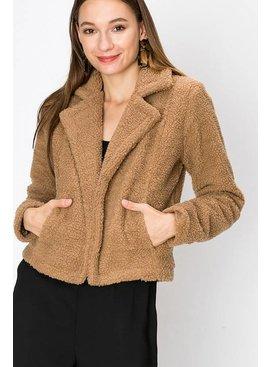 FAVLUX Fashion FAV LUX Faux Fur Blazer