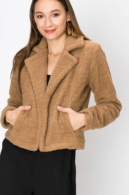 FAVLUX Fashion FAV LUX Faux Fur Blazer