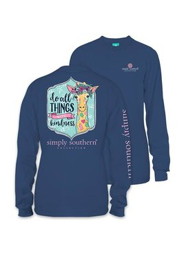 Simply Southern Collection Youth Do All Things With Kindness Long Sleeve T Shirt
