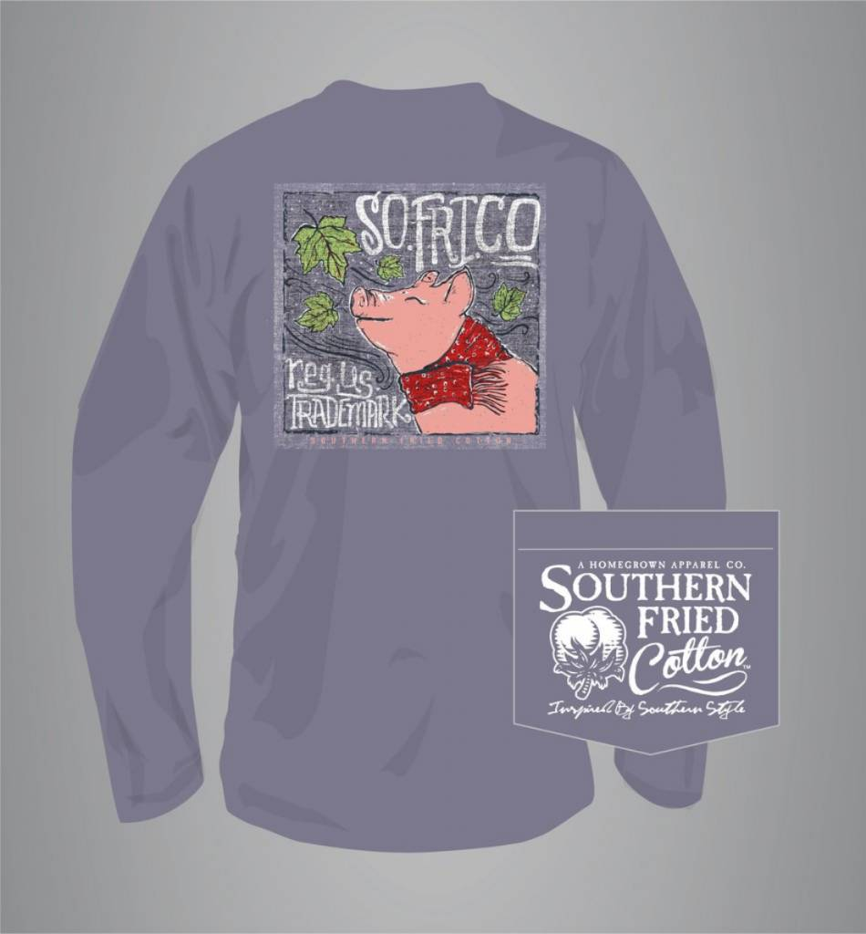 Southern Fried Cotton Leaves Falling Autumn Calling - Long Sleeve