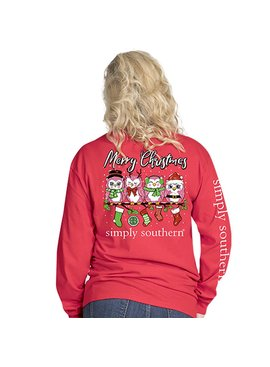 Simply Southern Collection Youth - Owl Christmas Long Sleeve T-Shirt