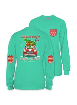 Simply Southern Collection Youth -  Elf Christmas Tree Long Sleeve T-Shirt