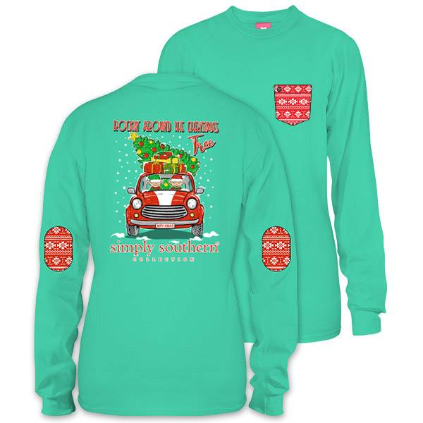 simply southern collection youth elf christmas tree long sleeve t shirt