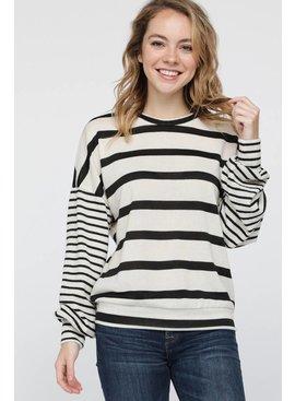 Long-Sleeve Miru Striped Top