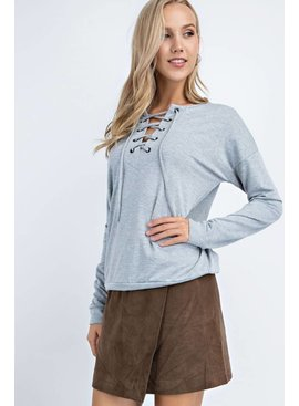 Long-Sleeve French Terry Top