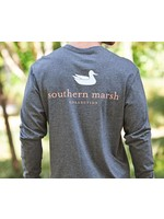 Southern Marsh Authentic Tee - Heather - Long Sleeve