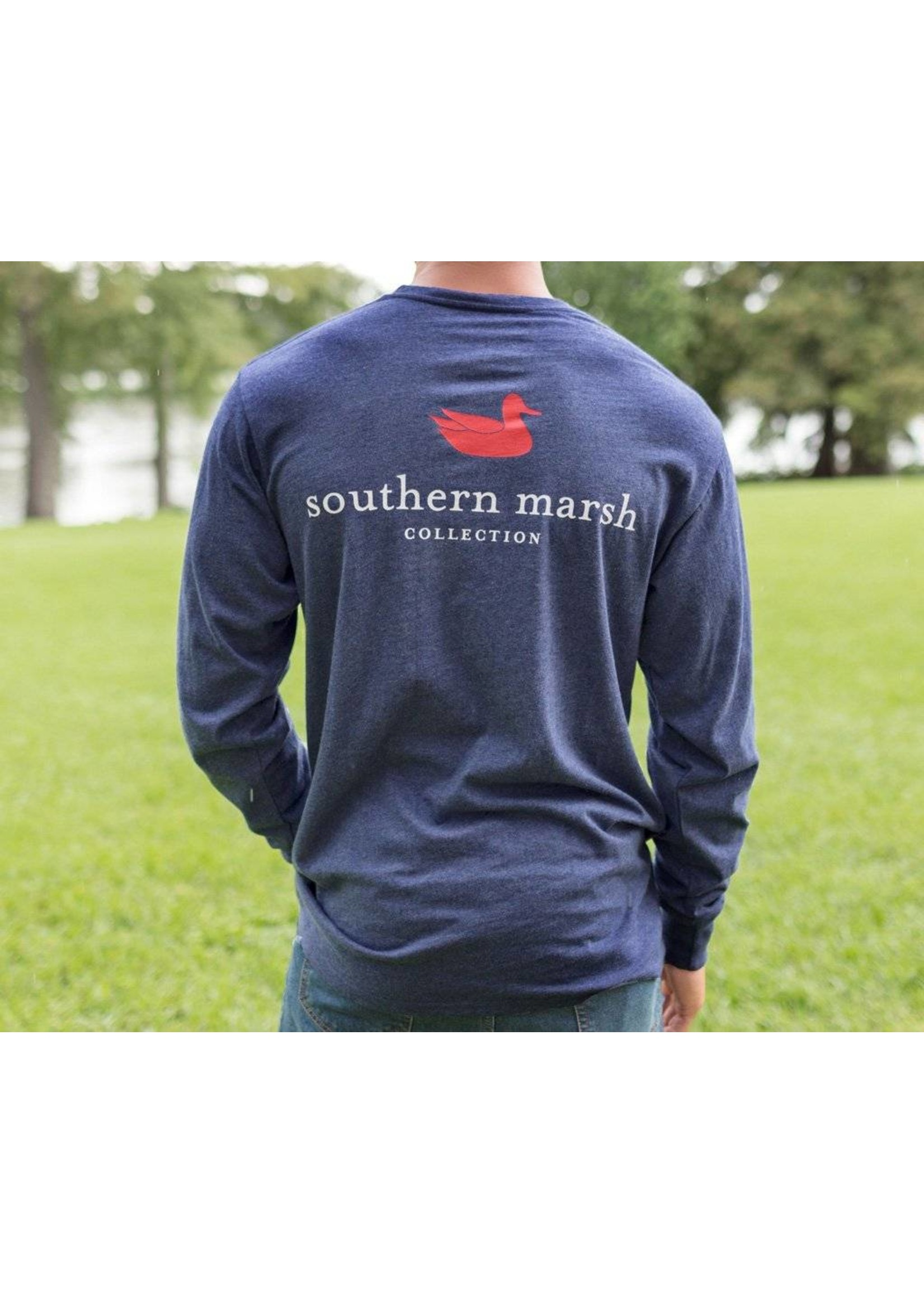 Southern Marsh Southern Marsh  Authentic Tee - Heather - Long Sleeve