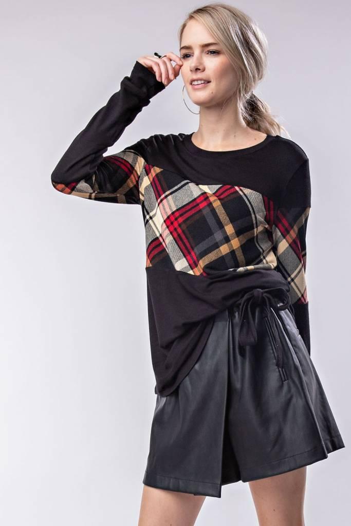 Long-Sleeve Rayon Spandex Top