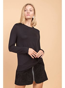 Long-Sleeve Casual Rayon Spandex  Top