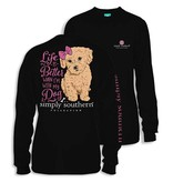 Simply Southern Collection Life is Better with a Dog Long Sleeve T-Shirt
