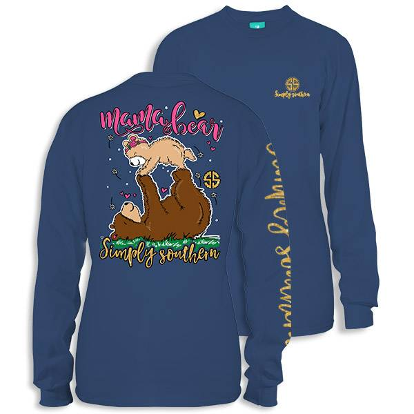 Simply Southern Collection Mama Bear -Long Sleeve T-Shirt - Moonrise