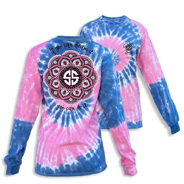 Simply Southern Collection Mandala Long Sleeve T-Shirt - Taffy