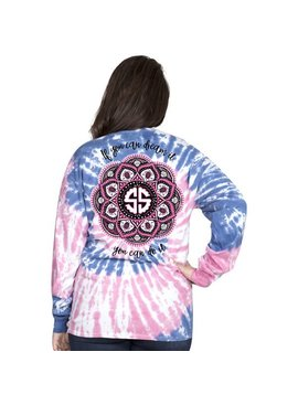 Simply Southern Collection Mandala Long Sleeve T-Shirt - Taffy