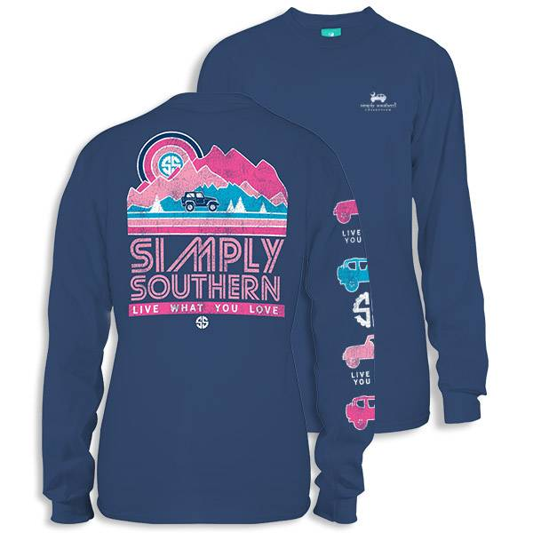 Simply Southern Collection Youth - Live What You Love -Long Sleeve T-Shirt - Moonrise