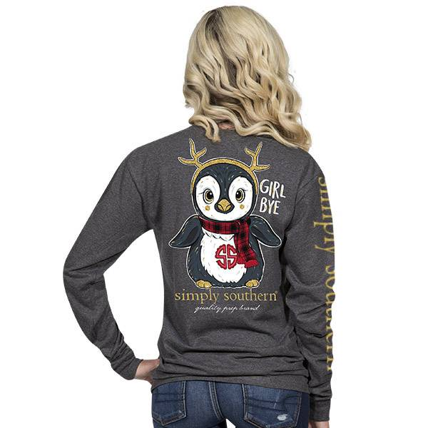 Simply Southern Collection Youth - Girl Bye -Long Sleeve T-Shirt - Dark Heather Grey