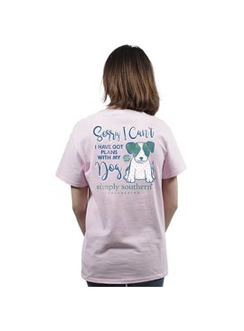Simply Southern Collection Youth Plans With My Dog Short Sleeve T-Shirt in Lulu