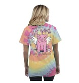 Simply Southern Collection Bless This Hot Mess Short Sleeve T-Shirt in Tiedye
