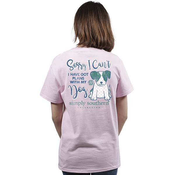 Simply Southern Collection Plans With My Dog Short Sleeve T-Shirt in Lulu