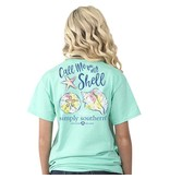 Simply Southern Collection Call Me On My Shell Short Sleeve T-Shirt in Aqua