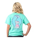 Simply Southern Collection Spread Sparkle Everywhere You Go Short Sleeve T-Shirt in Aqua