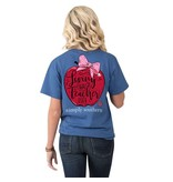 Simply Southern Collection Living That Teacher Life Short Sleeve T-Shirt in Moonrise
