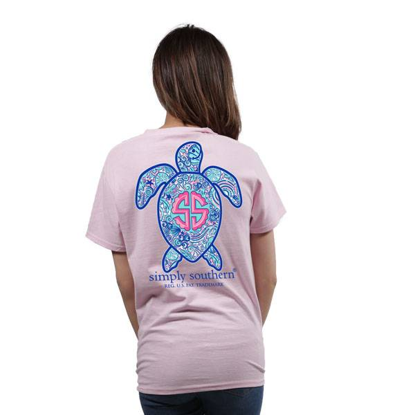 Simply Southern Collection Save The Turtle Logo Short Sleeve T-Shirt in Lulu