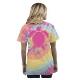 Simply Southern Collection Turtle Washed Logo Short Sleeve T-Shirt in Tie Dye