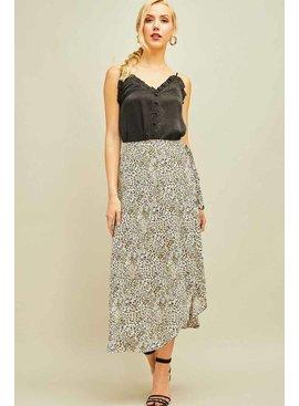 Entro Leopard print wrap skirt